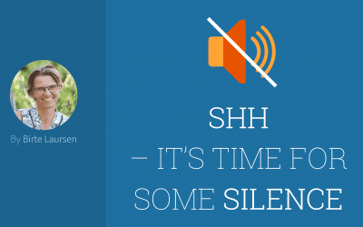 Shh – It's Time For Some Silence