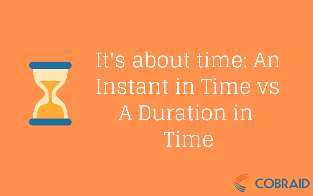 Instant vs A Duration in Time