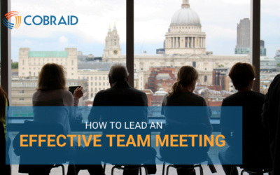 How to lead an effective team meeting